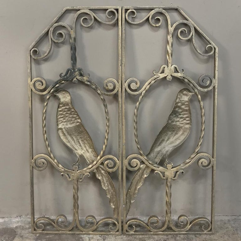 Pair of French Art Deco Gilded Wrought Iron Gates 6