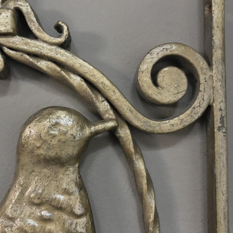 Pair of French Art Deco Gilded Wrought Iron Gates 2