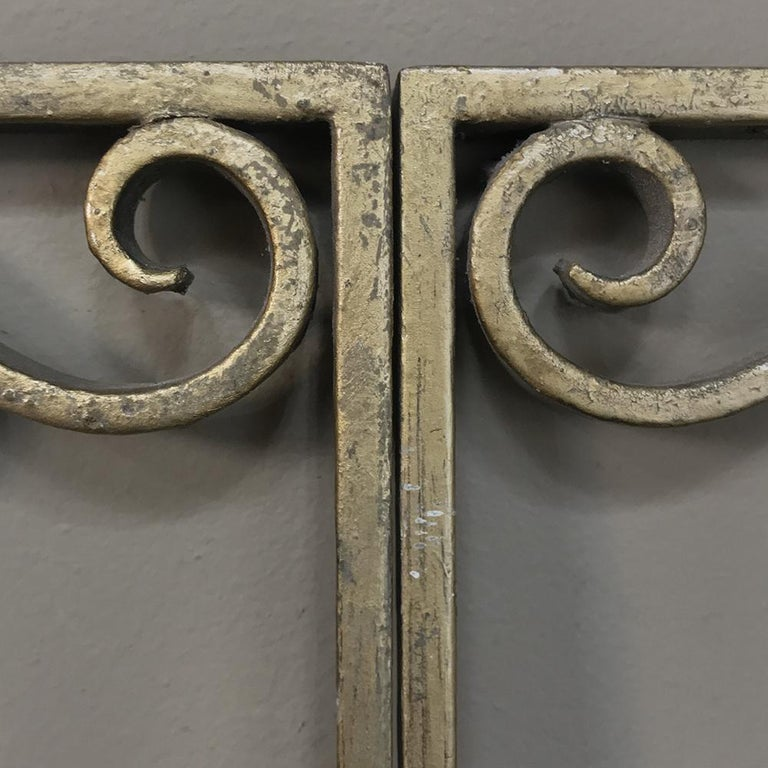 Pair of French Art Deco Gilded Wrought Iron Gates 4