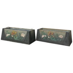 Pair of French Art Deco Painted Jardinières / Planter Boxes