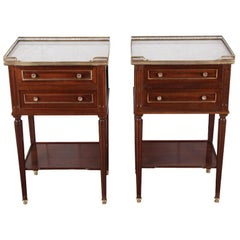 Pair of French Directoire Side Tables, Nightstands