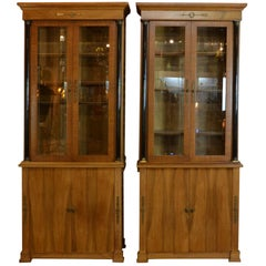 Pair of French Empire Bookcases