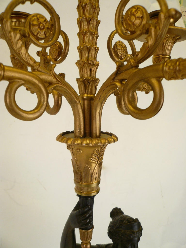 Pair of French Empire Figural Bronze Candelabra by Claude Francois Rabiat 6