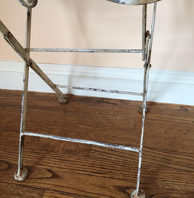 Pair of French Folding Garden Tables For Sale 4