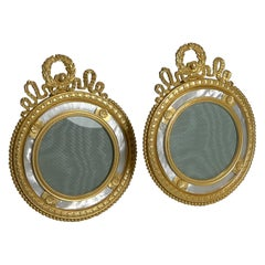 Pair French Gilt and Mother of Pearl Photograph / Picture Frames c.1900