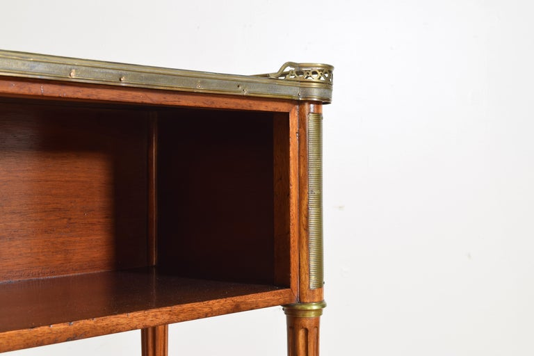 Pair French Mahogany and Brass Mounted Louis XVI Style Side Cabinets, Late 19thc For Sale 5