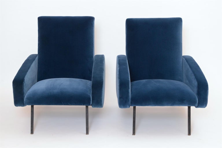 Mid-20th Century Pair of French Midcentury Armchairs, circa 1950 For Sale