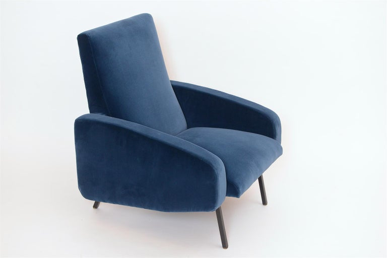 Metal Pair of French Midcentury Armchairs, circa 1950 For Sale