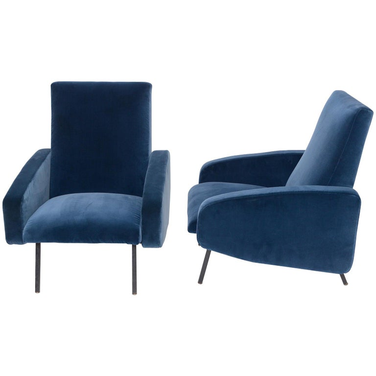 Pair of French Midcentury Armchairs, circa 1950 For Sale