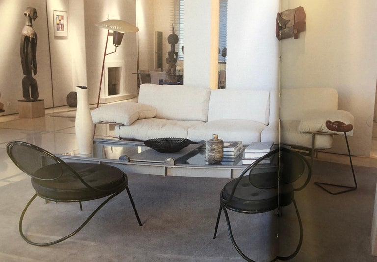 Pair French Mid-Century Modern Iron 'Copacabana' Chairs, by Mathieu Matégot 1955 For Sale 5