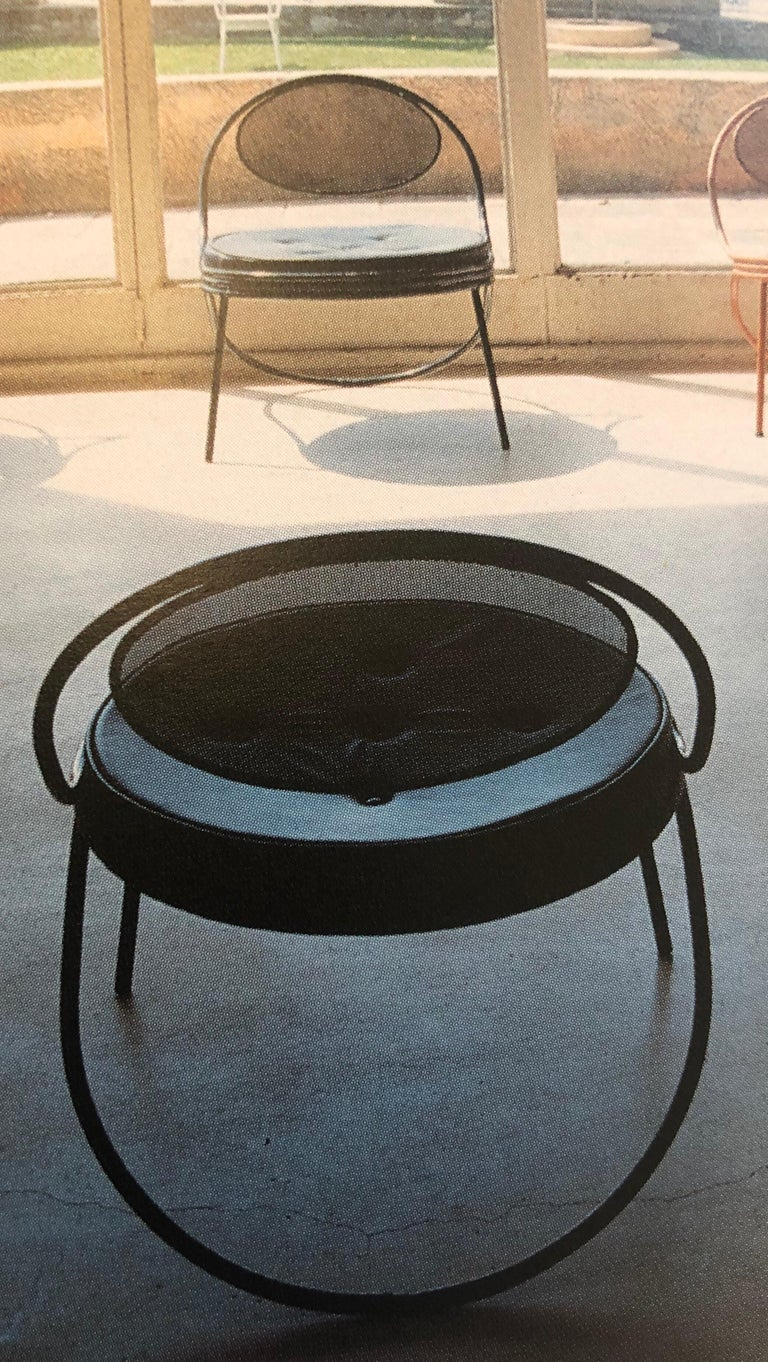 Pair French Mid-Century Modern Iron 'Copacabana' Chairs, by Mathieu Matégot 1955 For Sale 6