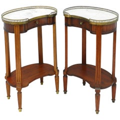 Pair of French Nightstands Side Cabinets Bedside Tables Louis XVI, circa 1910