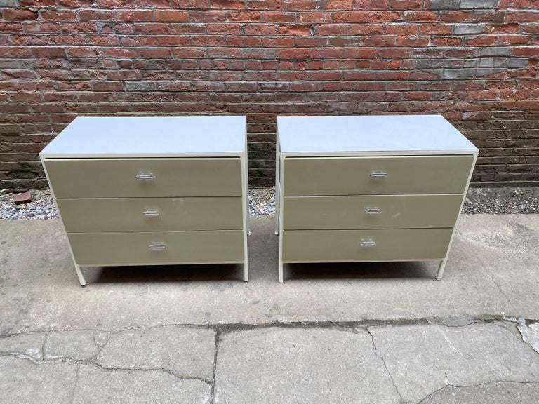 American Pair of George Nelson for Herman Miller Steel Frame Dressers For Sale