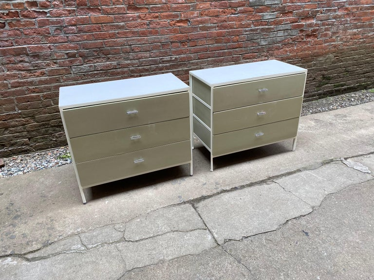 Painted Pair of George Nelson for Herman Miller Steel Frame Dressers For Sale