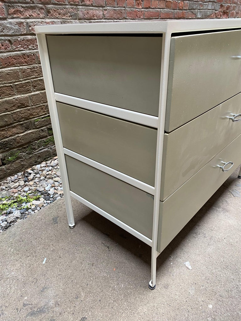 Mid-20th Century Pair of George Nelson for Herman Miller Steel Frame Dressers For Sale