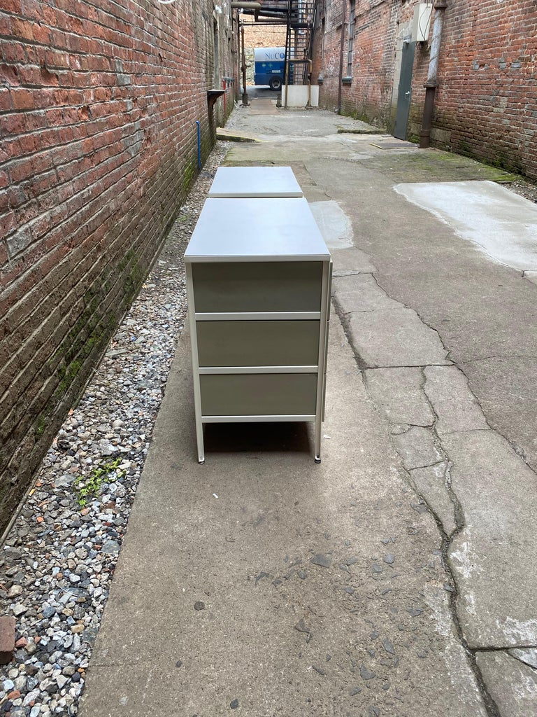 Pair of George Nelson for Herman Miller Steel Frame Dressers For Sale 2