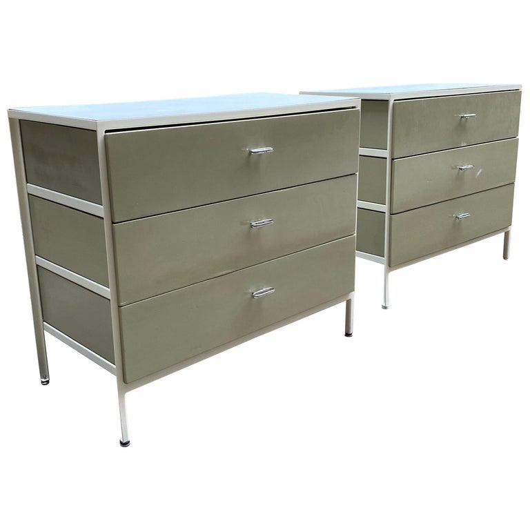 Pair of George Nelson for Herman Miller Steel Frame Dressers For Sale