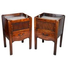 Pair of Georgian Period Mahogany Bedside Cabinets, circa 1780