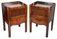 Pair Georgian period  Mahogany bedside cabinets, circa 1780