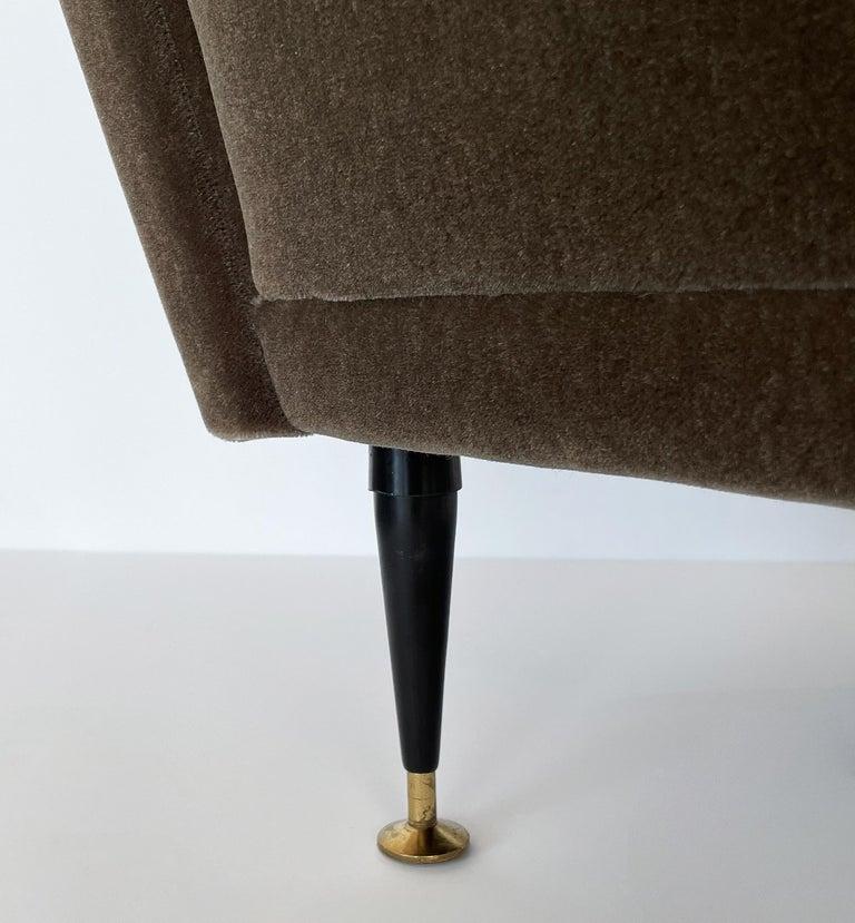 Pair Gigi Radice Italian Lounge Chairs in Mohair For Sale 7