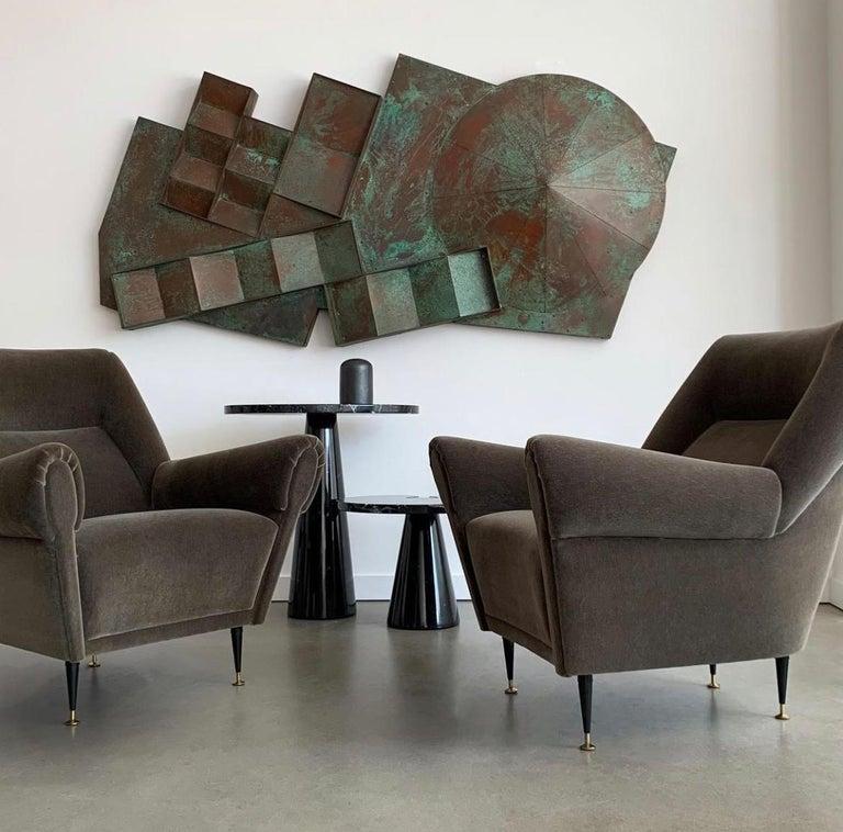 Pair Gigi Radice Italian Lounge Chairs in Mohair For Sale 8