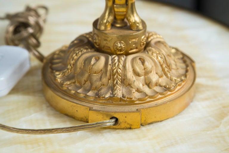 Pair of Gilt Bronze Boulliat Lamps For Sale 2