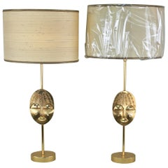 Pair of Gilt Bronze Dove Table Lamps by Pierre Casenove for Fonidica