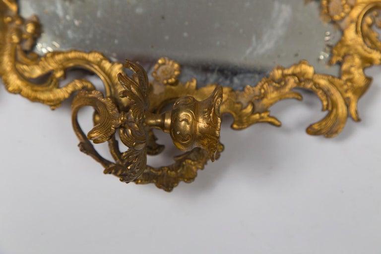 European Pair of Gilt Medal Mirror/Sconces For Sale