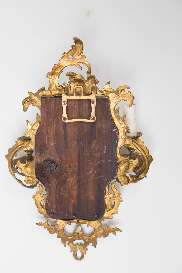 19th Century Pair of Gilt Medal Mirror/Sconces For Sale