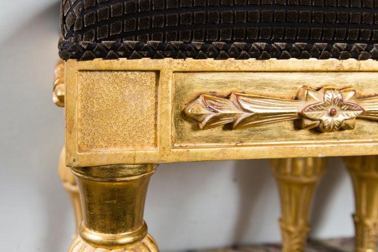 Regency Pair Giltwood Footstools, by J. Robert Scott For Sale