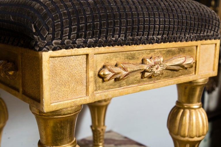 20th Century Pair Giltwood Footstools, by J. Robert Scott For Sale