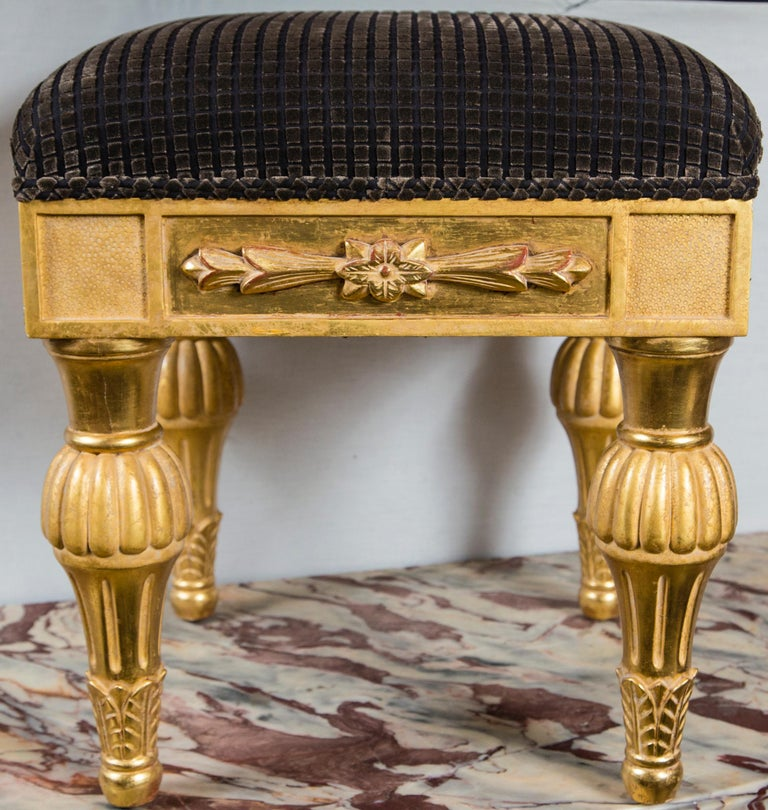 Pair Giltwood Footstools, by J. Robert Scott For Sale 1