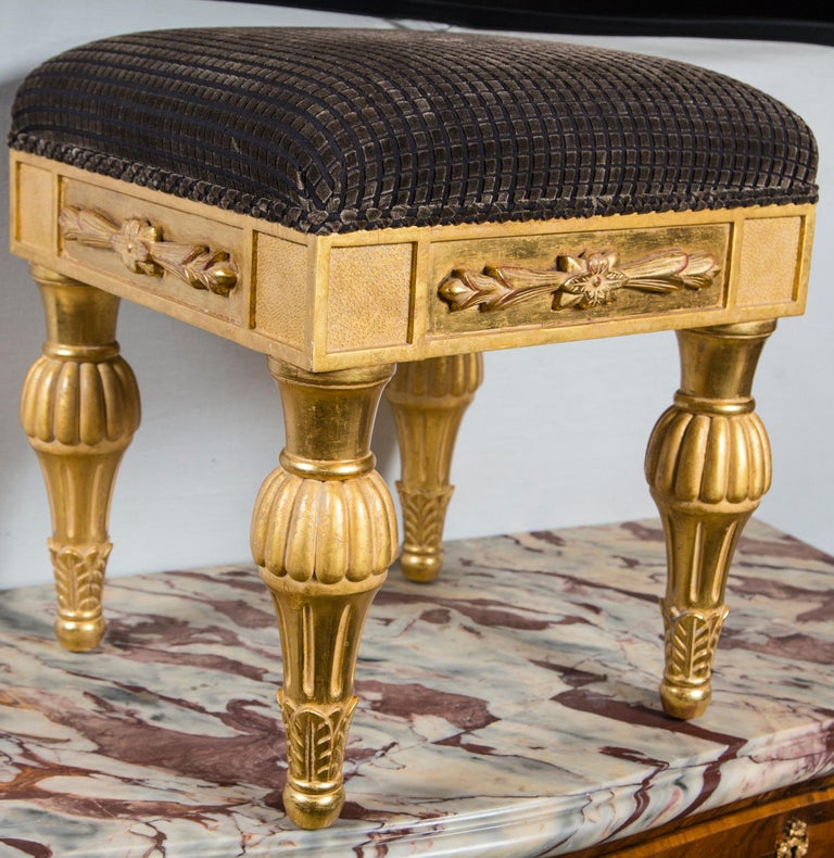 Pair Giltwood Footstools, by J. Robert Scott For Sale 2
