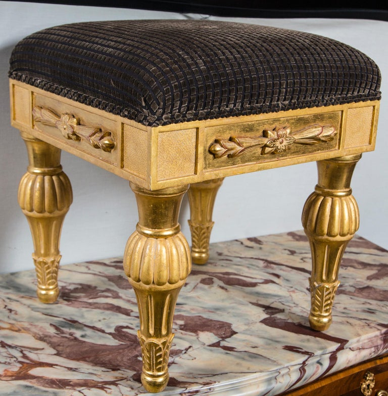 Pair Giltwood Footstools, by J. Robert Scott For Sale 3