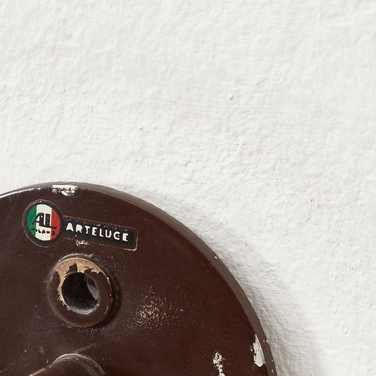 Mid-20th Century Pair Gino Sarfatti 238/1 Wall Lamps for Arteluce, Italy, 1952 For Sale