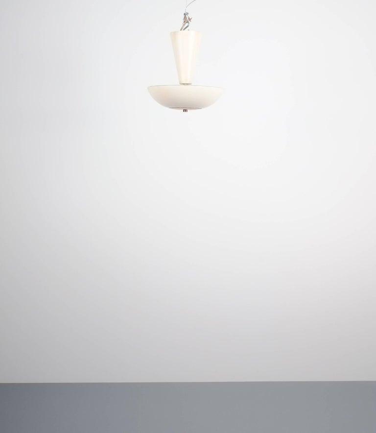 Mid-Century Modern Pair Gino Sarfatti Arteluce 3003 Ceiling Lamp or Semi Flush Mount, Italy, 1950 For Sale
