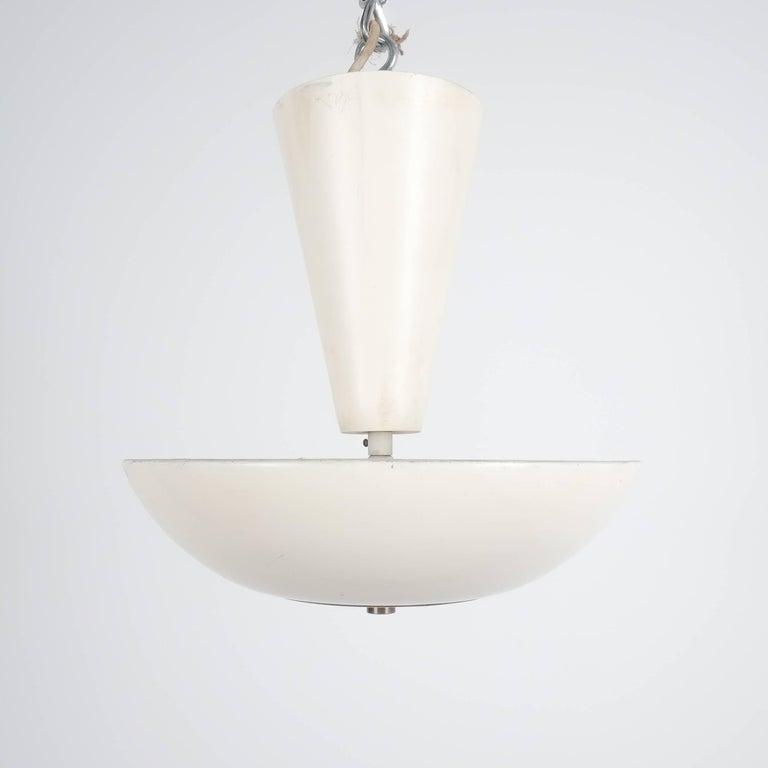 Italian Pair Gino Sarfatti Arteluce 3003 Ceiling Lamp or Semi Flush Mount, Italy, 1950 For Sale