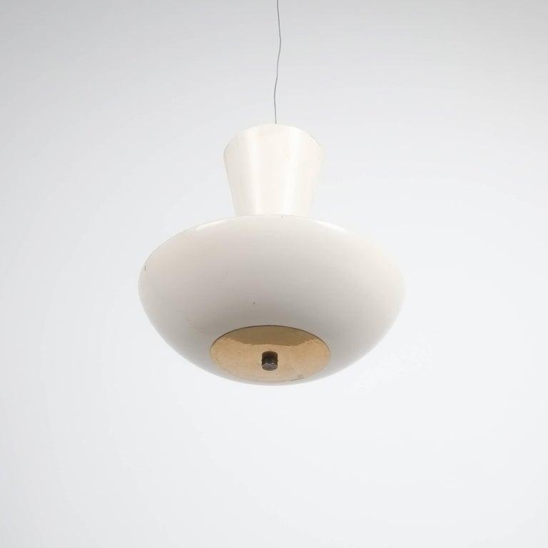 Mid-20th Century Pair Gino Sarfatti Arteluce 3003 Ceiling Lamp or Semi Flush Mount, Italy, 1950 For Sale