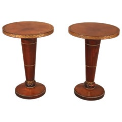 Pair of Grosfeld House Attributed Mahogany and Bronze Mounted Side End Tables