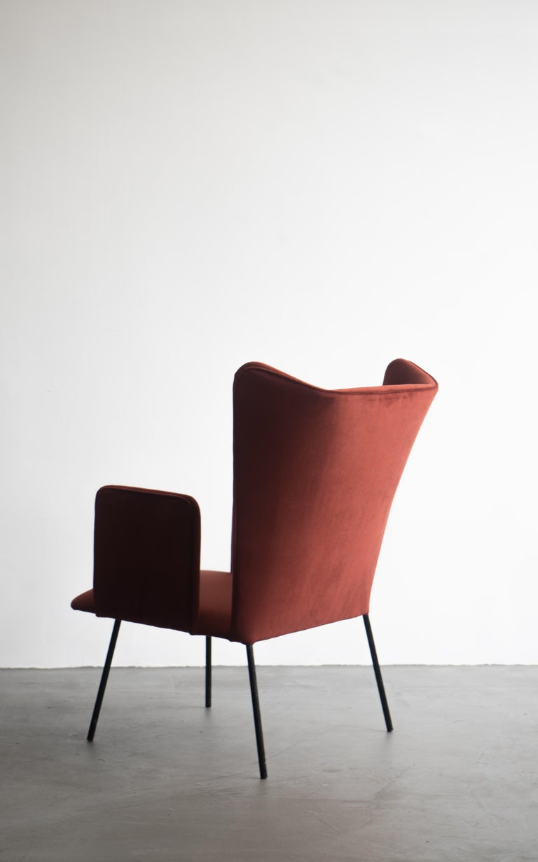 Mid-20th Century Pair of High Armchair by Carlo Hauner and Martin Eisler, Brazilian Design For Sale