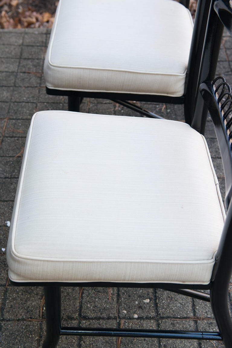 Pair of High Ladder Back Chairs For Sale 7