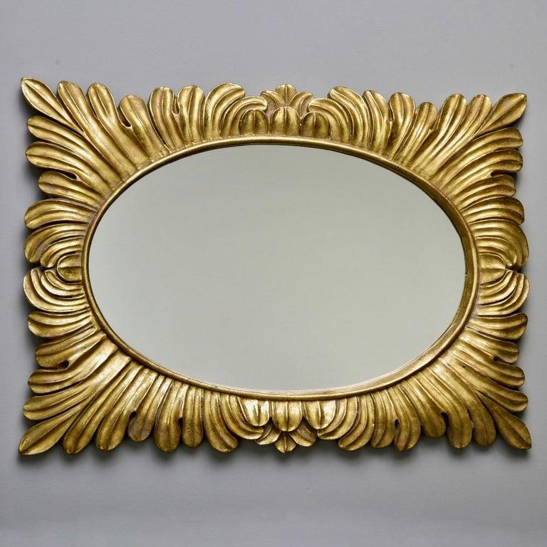 Pair Hollywood Regency Style Gilt Framed Mirrors For Sale 7
