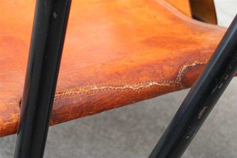 Leather Pair Hoop