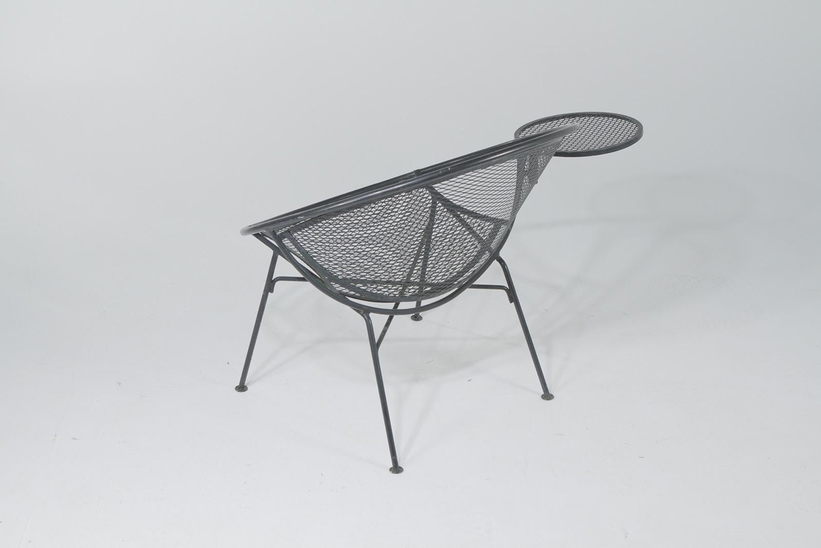 Iconic Salterini Mid Century Modern Patio Chairs With Attached Side Table Pair At 1stdibs
