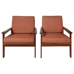 Pair-Illum Wikkelso Danish Teak Capella Chairs Midcentury, Scandinavian Modern