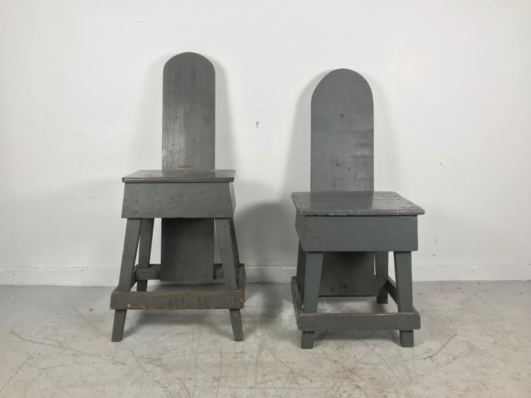 American Pair of Industrial Bench Made