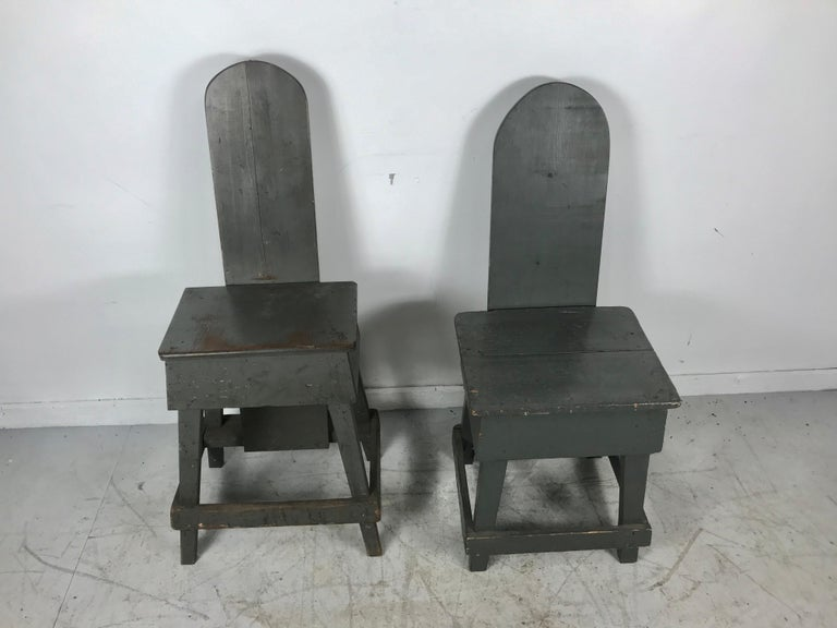 Hand-Crafted Pair of Industrial Bench Made