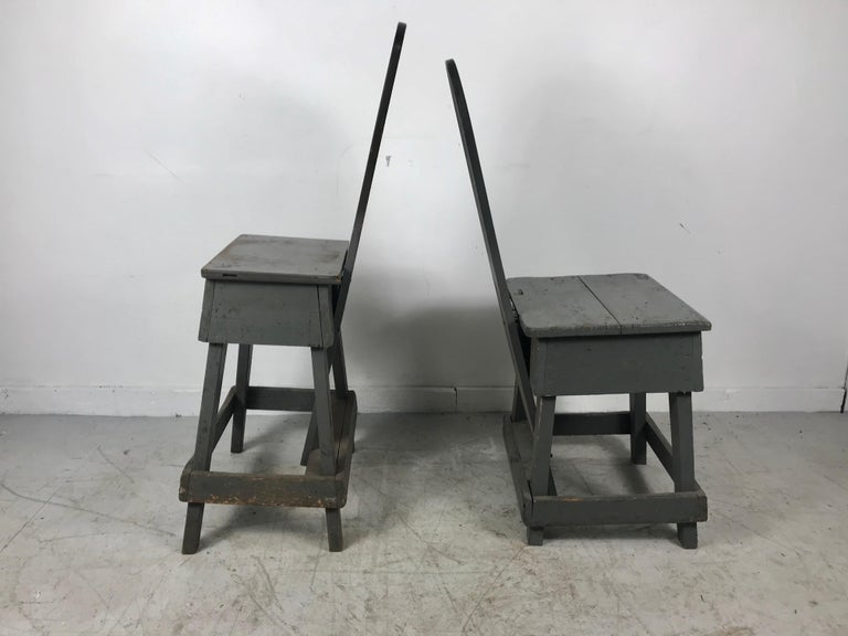 Pair of Industrial Bench Made