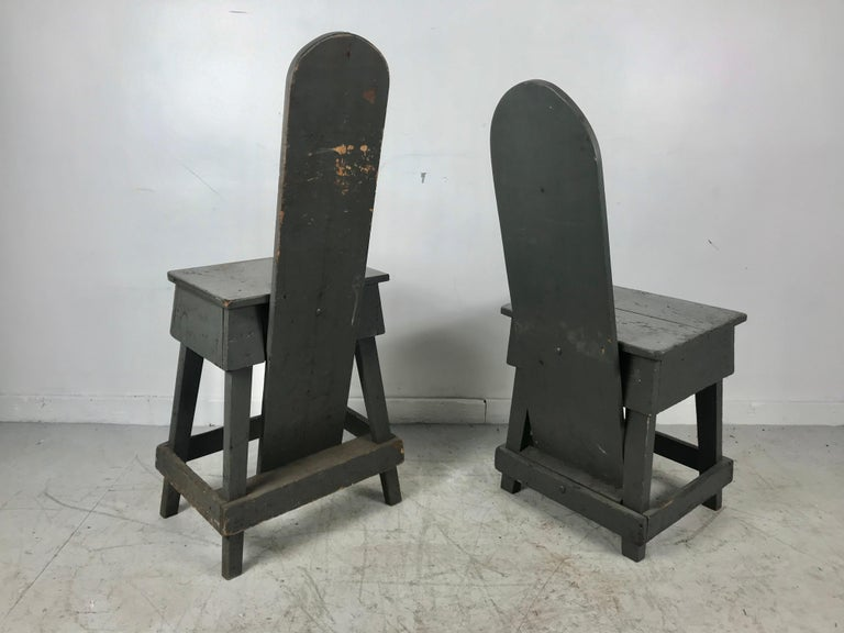 Mid-20th Century Pair of Industrial Bench Made