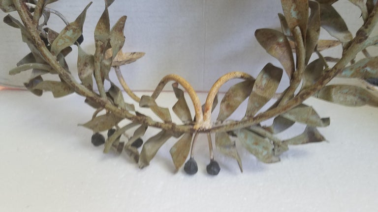 Pair of Iron Candle Sconces For Sale 1